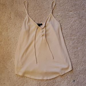 Forever 21 Lace-up Front Tank